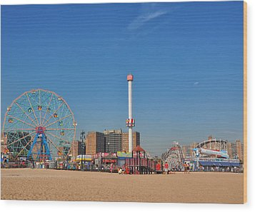 Coney Island Astroland Wood Print