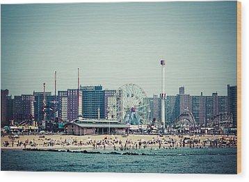Coney Island Dream Wood Print by Frank Winters