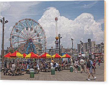 Coney Island June 2013 Wood Print
