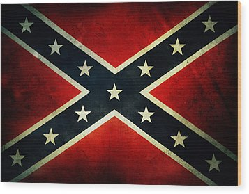 Confederate Flag Wood Print