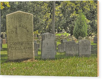Confederate Graves Wood Print