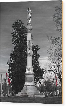Confederate Monument Wood Print