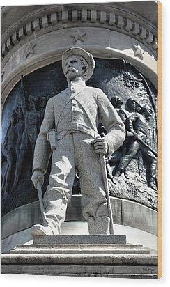 Confederate Soldier II Alabama State Capitol Wood Print by Lesa Fine