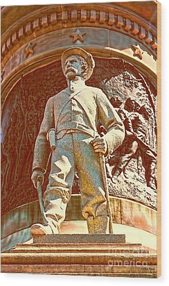 Confederate Soldier Statue I Alabama State Capitol Wood Print by Lesa Fine