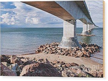 Confederation Bridge Wood Print