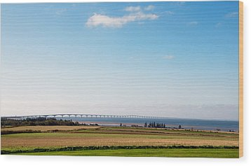 Wood Print featuring the photograph Confederation Bridge by Trever Miller