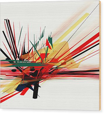 Conflict 1 Wood Print by Andrew Penman