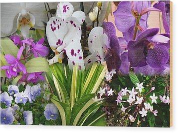 Confluent Flowers 1 Wood Print