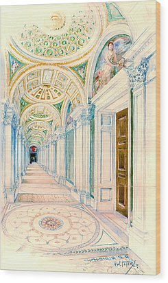 Congressional Library Washington Dc 1897 Wood Print by Padre Art