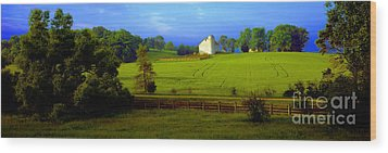 Wood Print featuring the photograph Conley Road Farm Spring Time by Tom Jelen