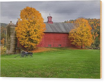Connecticut Autumn Wood Print by Bill Wakeley