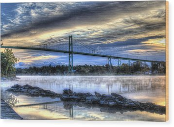 Connecting Bridge Wood Print by Sharon Batdorf