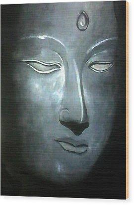 Connection Wood Print by Gopal Maheshwari