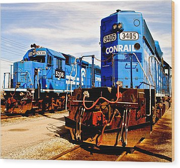 Conrail Choo Choo  Wood Print by Frozen in Time Fine Art Photography
