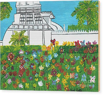 Conservatory Wood Print