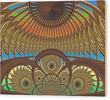 Conservatory - Sunset Wood Print by Wendy J St Christopher