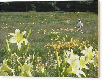 Consider The Lilies Of The Field Wood Print by Jean Hall