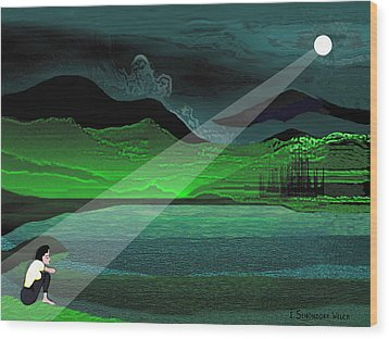 Consolation - 695 Wood Print by Irmgard Schoendorf Welch