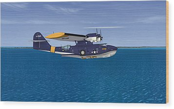 Consolidated Pby-5a Catalina Wood Print by Walter Colvin