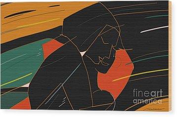 Consoling Wood Print by Vilas Malankar