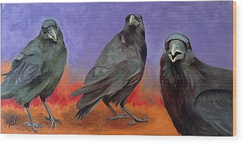Conspiracy Wood Print by Pattie Wall