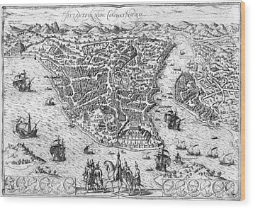 Constantinople, 1576 Wood Print by Granger