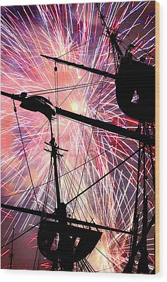 Wood Print featuring the photograph Constellation Fourth by Mike Flynn