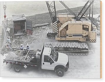 Construction Site Wood Print by Rudy Umans
