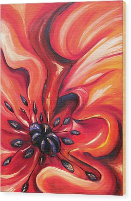 Wood Print featuring the painting Consuming Fire by Meaghan Troup