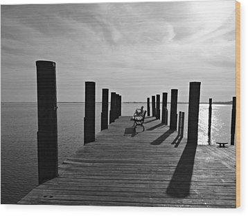 Contemplating The Chesapeake Wood Print