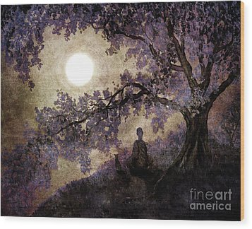 Contemplation Beneath The Boughs Wood Print by Laura Iverson