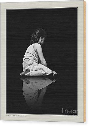 Contemplation In Dark Wood Print