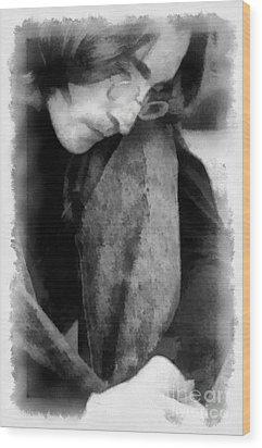 Contemplative John Wood Print by Paulette B Wright