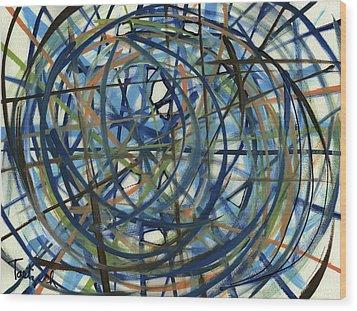 Contemporary Art Seventeen Wood Print