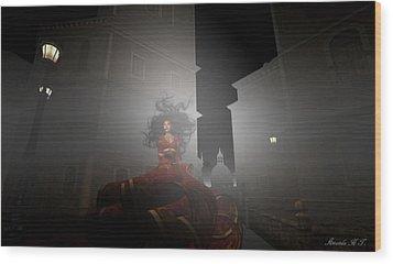 Contessa Vampiro Fuggire L'alba - Flee The Dawn Wood Print by Amanda Holmes Tzafrir
