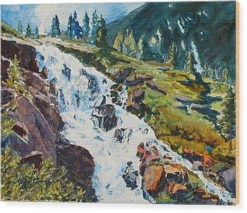 Continental Falls Wood Print