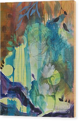 Wood Print featuring the painting Continuum by Robin Maria Pedrero