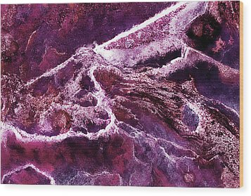 Contours 075 Abstract Wood Print by Natalie Kinnear