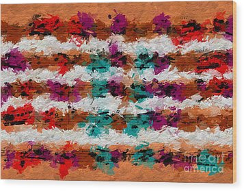Wood Print featuring the digital art Contrapuntal Fiesta by Lon Chaffin
