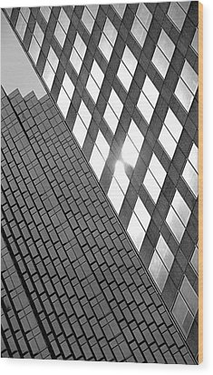 Contrasting Architecture Wood Print by Valentino Visentini
