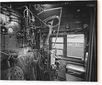 Controls Of Steam Locomotive No. 611 C. 1950 Wood Print by Daniel Hagerman