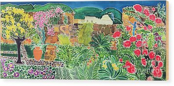 Convent Gardens Antigua Wood Print by Hilary Simon