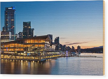 Convention Centre Sunset Wood Print by Alexis Birkill