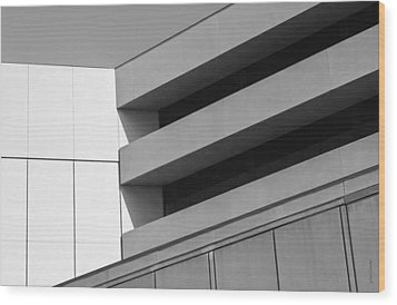 Wood Print featuring the photograph Converging Lines - Urban Abstracts by Steven Milner