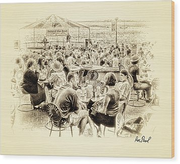 Conversations In Black And White Wood Print by Ron Pearl