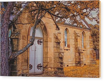 Convict Built Church 1873 Wood Print by Wallaroo Images