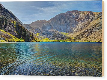 Convict Lake Fall Color Wood Print
