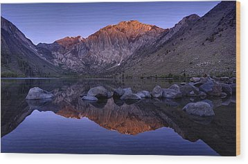 Convict Lake Wood Print by Sean Foster