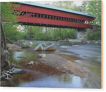 Conway Covered Bridge Wood Print by Andrea Galiffi