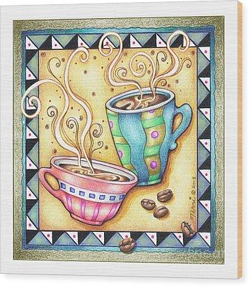 Cool Beans Wood Print by Pop Art Diva